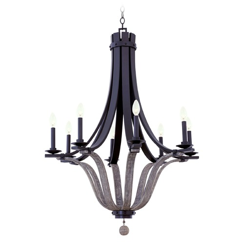 Kalco Lighting Kalco Lansing Satin Bronze Chandelier 502571SZ