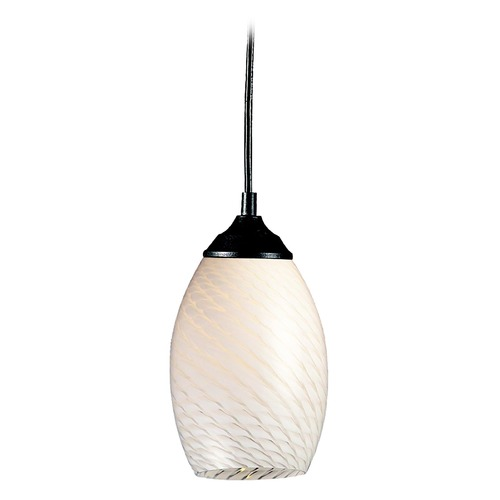 Z-Lite Z-Lite Jazz Sand Black Mini-Pendant Light with Oblong Shade 131-WHITE