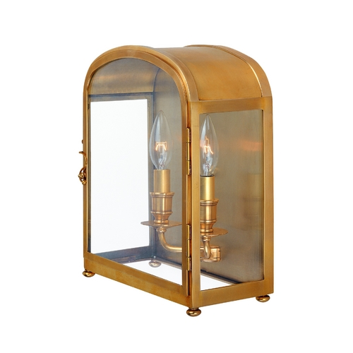 Hudson Valley Lighting Sconce Wall Light with Clear Glass in Aged Brass Finish 6472-AGB