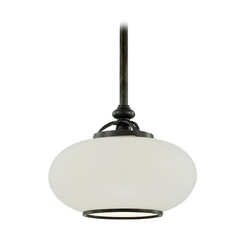 Hudson Valley Lighting Pendant Light with White Glass in Old Nickel Finish 9815-ON
