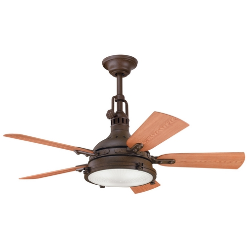 Kichler Lighting Kichler Ceiling Fan with Light Kit in Bronze Finish 310101TZP