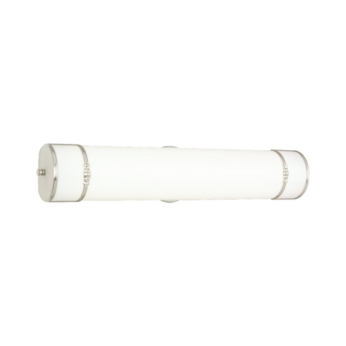 Sea Gull Lighting Bathroom Light with White in Brushed Nickel Finish 49215BLE-962