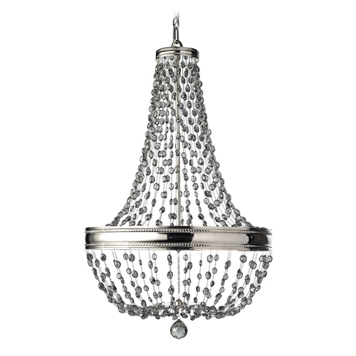 Feiss Lighting Crystal Chandelier in Polished Nickel Finish F2810/8PN