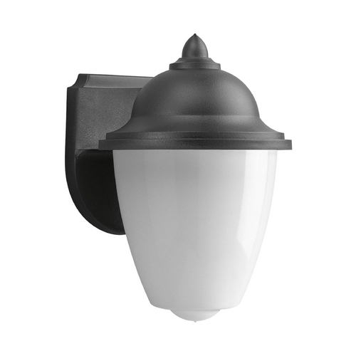 Progress Lighting Progress Outdoor Wall Light with White in Black Finish P5881-31WB
