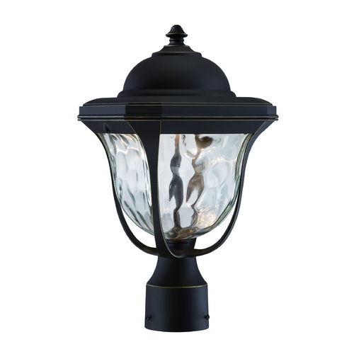 Designers Fountain Lighting LED Post Light with Clear Glass in Aged Bronze Patina Finish LED21936-ABP