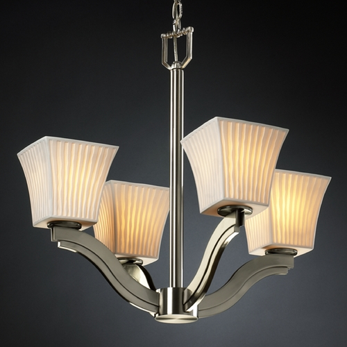 Justice Design Group Justice Design Group Limoges Collection Chandelier POR-8970-40-WFAL-NCKL