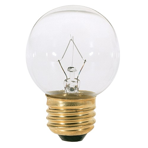 Satco Lighting Incandescent G16.5 Light Bulb Medium Base 120V by Satco S4538