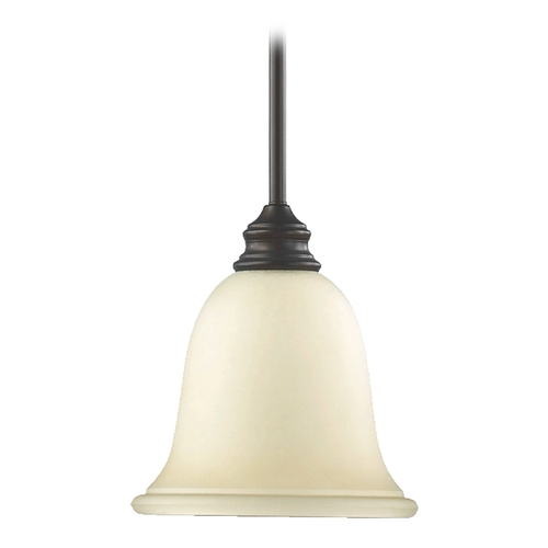 Quorum Lighting Quorum Lighting Bryant Oiled Bronze Mini-Pendant Light with Bell Shade 3154-86