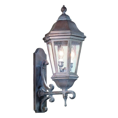 Troy Lighting Seeded Glass Outdoor Wall Light Bronze Troy Lighting BCD6831ABZ