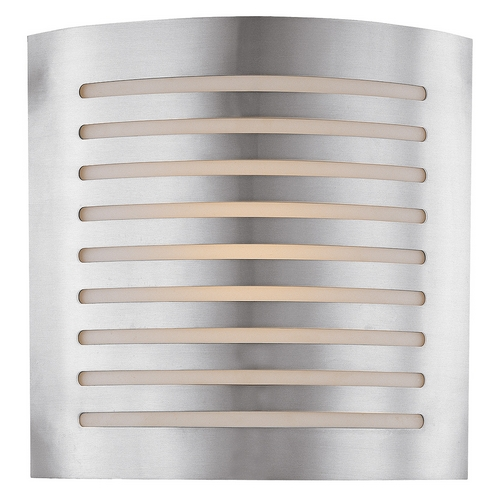 Access Lighting Modern Sconce Wall Light with White Glass in Brushed Steel Finish 53340-BS/OPL