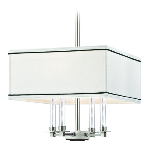 Hudson Valley Lighting Modern Pendant Light with White Shades in Polished Nickel Finish 2914-PN