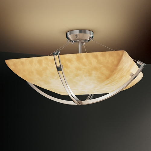 Justice Design Group Justice Design Group Clouds Collection Semi-Flushmount Light CLD-9712-25-NCKL