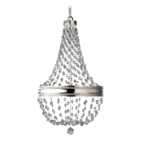 Feiss Lighting Crystal Chandelier in Polished Nickel Finish F2811/6PN