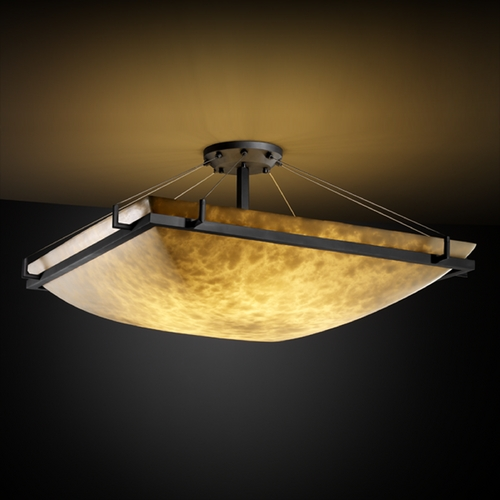 Justice Design Group Justice Design Group Clouds Collection Semi-Flushmount Light CLD-9784-25-MBLK