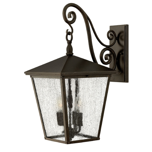Hinkley Lighting LED Outdoor Wall Light with Clear Glass in Regency Bronze Finish 1435RB-LED
