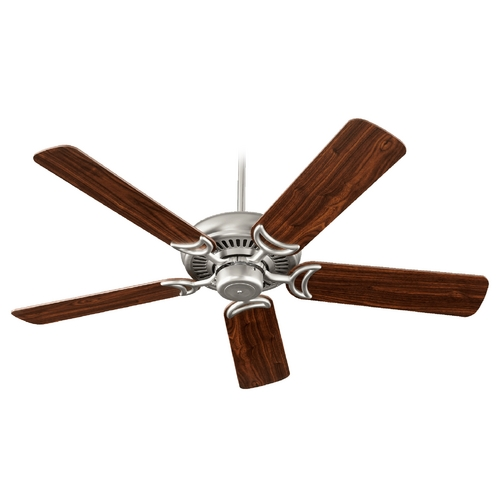 Quorum Lighting Quorum Lighting Venture Satin Nickel Ceiling Fan Without Light 79525-65
