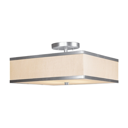 Livex Lighting Livex Lighting Park Ridge Brushed Nickel Semi-Flushmount Light 6349-91