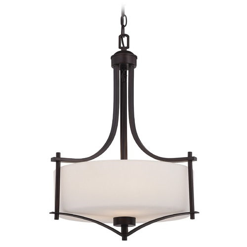 Savoy House Savoy House English Bronze Pendant Light with Drum Shade 3-333-3-13