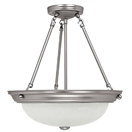 Capital Lighting Capital Lighting Matte Nickel Pendant Light with Bowl / Dome Shade 2718MN