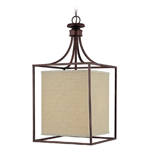 Capital Lighting Capital Lighting Midtown Burnished Bronze Pendant Light with Rectangle Shade 9041BB-471