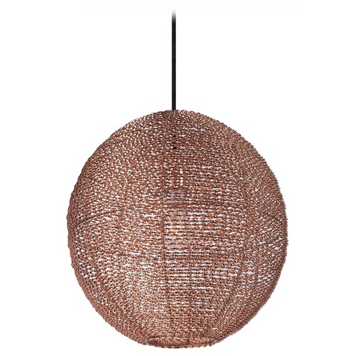 Maxim Lighting Maxim Lighting Twisp Copper Pendant Light with Globe Shade 12194CP