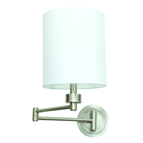 House of Troy Lighting House Of Troy Decorative Wall Swing Satin Nickel Swing Arm Lamp WS775-SN