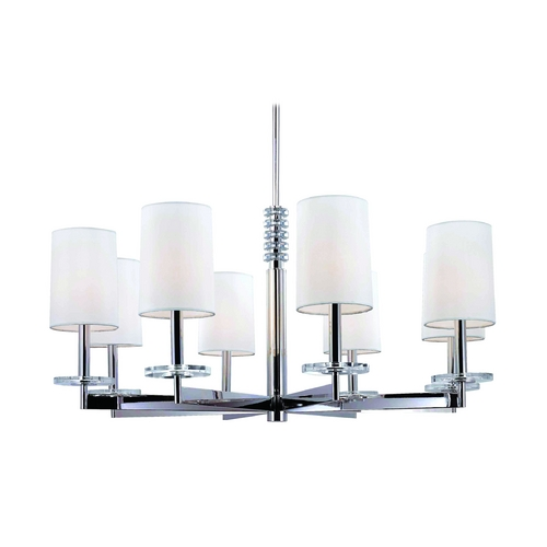 Hudson Valley Lighting Modern Chandelier with White Shades in Old Bronze Finish 8808-OB