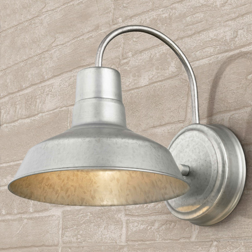 Design Classics Lighting Barn Light Galvanized 8.5-Inch Wide by Design Classics Lighting 662-GAL