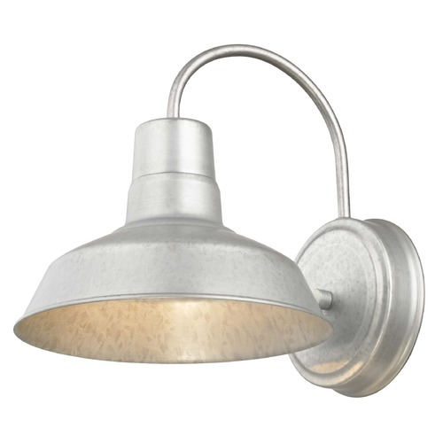 Design Classics Lighting RLM Galvanlized Outdoor Wall Light - 8.5-Inch Wide 662-GAL