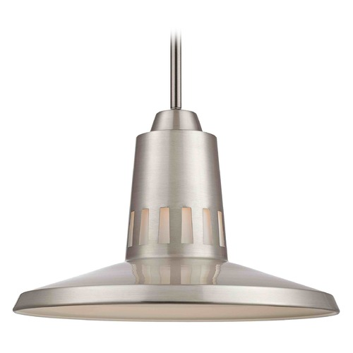 Design Classics Lighting Design Classics Satin Nickel Pendant Light with Cylindrical Shade 3112-09 GL1027