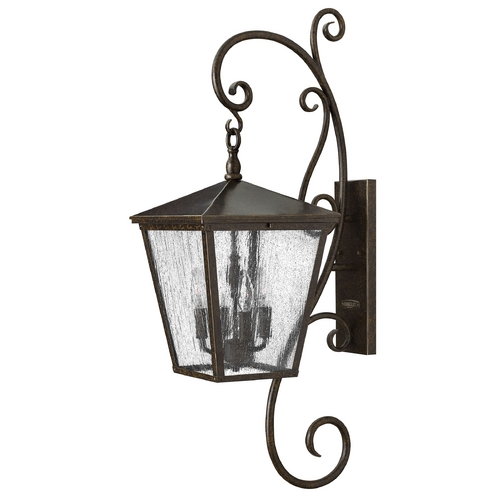 Hinkley Lighting Outdoor Wall Light with Clear Glass in Regency Bronze Finish 1436RB