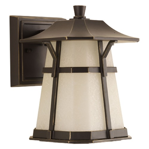 Progress Lighting Seeded Glass LED Outdoor Wall Light Bronze Progress Lighting P5749-2030K9