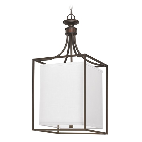 Capital Lighting Capital Lighting Midtown Burnished Bronze Pendant Light with Rectangle Shade 9041BB-472