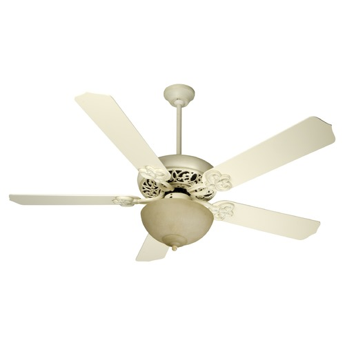 Craftmade Lighting Craftmade Lighting Cecilia Unipack Antique White Distressed Ceiling Fan with Light K10618