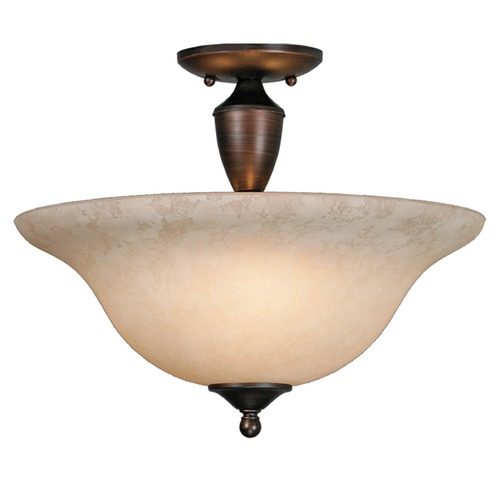 Golden Lighting Golden Lighting Centennial Rubbed Bronze Semi-Flushmount Light 1392 RBZ-TEA