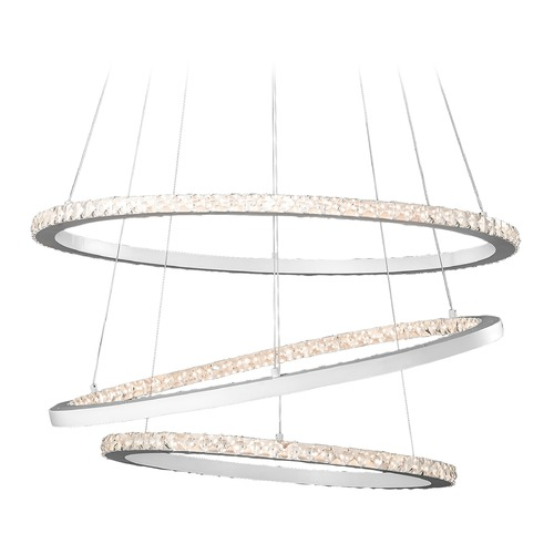 Elan Lighting Elan Lighting Allos Flat White LED Chandelier 83425