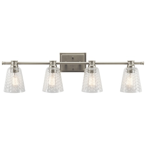 Kichler Lighting Kichler Lighting Nadine Brushed Nickel Bathroom Light 45098NI
