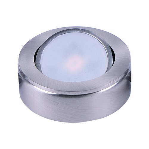 Maxim Lighting 120V LED Puck Light Recessed / Surface Mount 3000K Satin Nickel by Maxim Lighting 53830SN