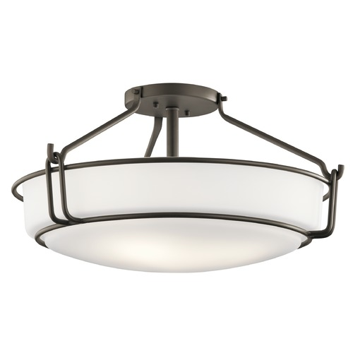 Kichler Lighting Transitional Semi-Flushmount Light Olde Bronze Alkire by Kichler Lighting 44086OZ