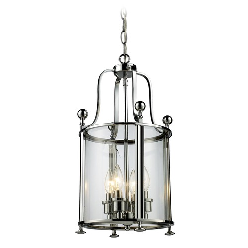 Z-Lite Z-Lite Wyndham Chrome Pendant Light with Cylindrical Shade 134-4