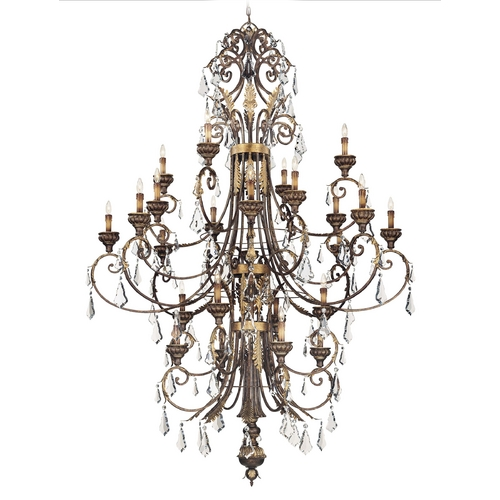 Metropolitan Lighting Crystal Chandelier in Windsor Rust / Bronze Accents Finish N6228-228