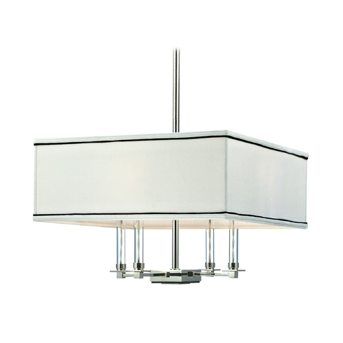 Hudson Valley Lighting Modern Pendant Light with White Shades in Polished Nickel Finish 2919-PN