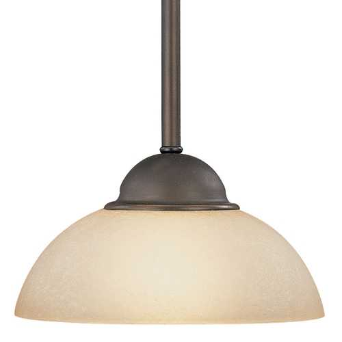 Dolan Designs Lighting Mini-Pendant Light with Caramelized Glass in Bolivian Bronze 200-78