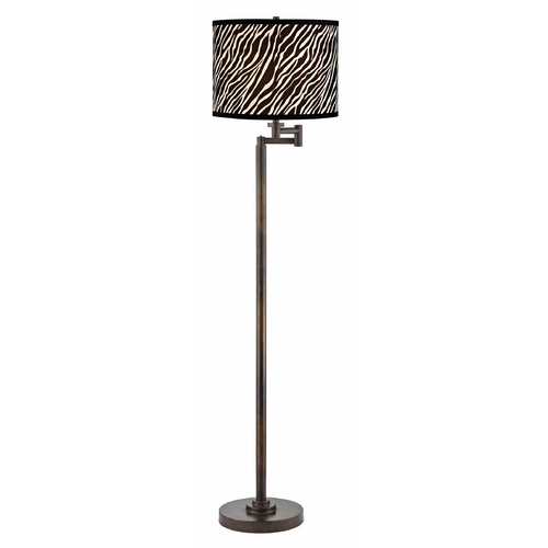 Design Classics Lighting Swing Arm Lamp with Black Shade in Bronze Finish 1901-1-604 SH9485