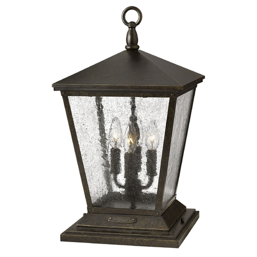 Hinkley Lighting Seeded Glass Post Light Bronze Hinkley Lighting 1437RB