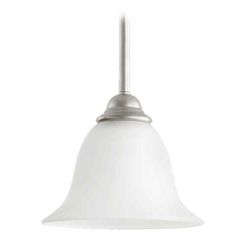 Quorum Lighting Quorum Lighting Celesta Classic Nickel Mini-Pendant Light with Bell Shade 3053-64