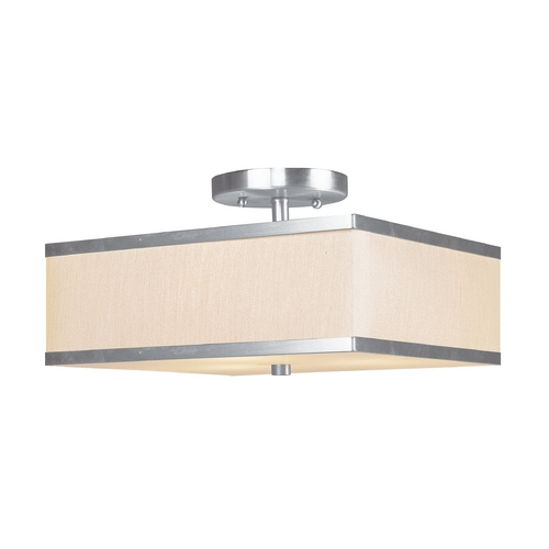Livex Lighting Livex Lighting Park Ridge Brushed Nickel Semi-Flushmount Light 6348-91