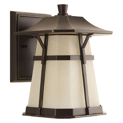 Progress Lighting Seeded Glass LED Outdoor Wall Light Bronze Progress Lighting P5750-2030K9