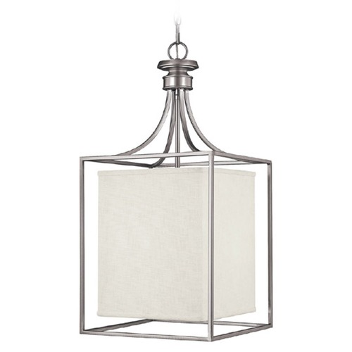 Capital Lighting Capital Lighting Midtown Matte Nickel Pendant Light with Rectangle Shade 9041MN-472