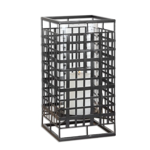 Uttermost Lighting Uttermost Caged In Metal Candleholder 19973